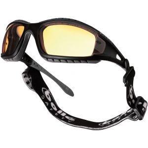 Bolle Tracker Schutzbrille gelbe Gläser schwarzes Gestell