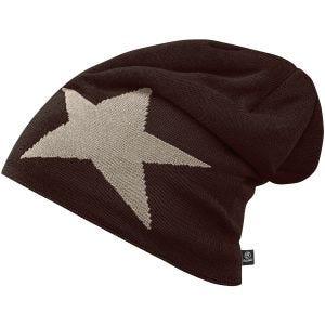 Brandit Star Cap Beanie-Mütze mit Stern Chocolate