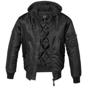 Brandit MA1 Jacke mit Sweat-Kapuze Schwarz