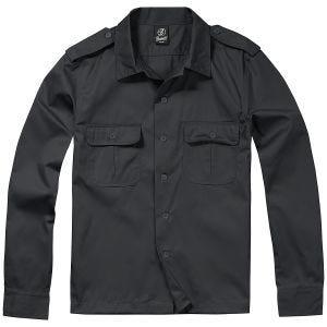 Brandit US Langärmliges Hemd Schwarz