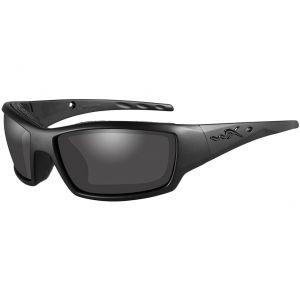 Wiley X WX Tide Schutzbrille - Gläser in Smoke Grey / Gestell in Mattschwarz/Black Ops