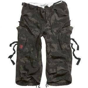 Surplus Engineer Shorts im Vintage-Stil mit 3/4-Bein Black Camo