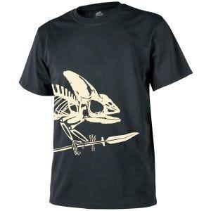 Helikon T-Shirt mit Chamäleonskelett-Motiv Schwarz
