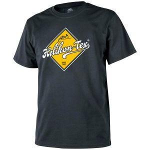 Helikon T-Shirt mit Straßenschild-Design Schwarz