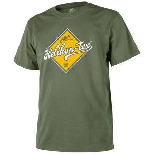 Helikon T-Shirt mit Straßenschild-Design Olive Green