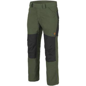 Helikon Woodsman Trousers Taiga Green / Black