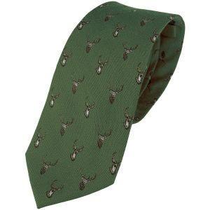 Jack Pyke Silk Tie Stag Green