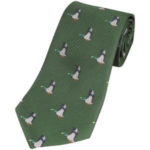 Jack Pyke Krawatte mit Enten-Motiv Grün