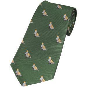 Jack Pyke Krawatte mit Rebhuhn-Motiv Grün