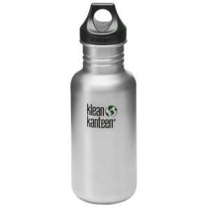 Klean Kanteen Classic 532 ml Trinkflasche mit Loop Cap Brushed Stainless