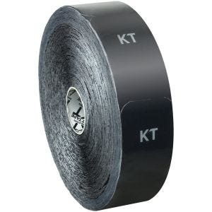 KT Tape Jumbo Original Kinesio-Tape aus Baumwolle vorgeschnitten Schwarz