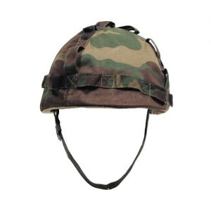 MFH Kunststoff-Helm mit Stoffbezug Woodland