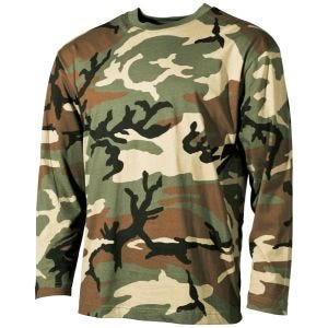 MFH Langarm-T-Shirt Woodland