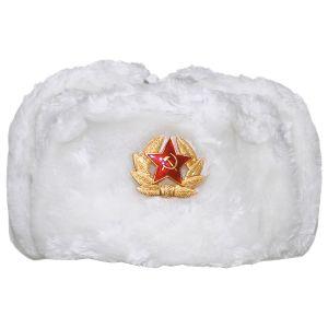 MFH Russische Wintermütze Weiß mit Emblem