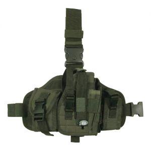 MFH Beinholster mit Taschen & MOLLE-Befestigungssystem Oliv