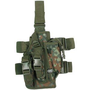 MFH Beinholster mit 3 Magazintaschen Flecktarn