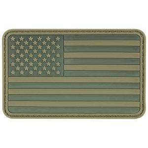 MFH 3D-Patch mit USA-Flagge & Klett Olivgrün
