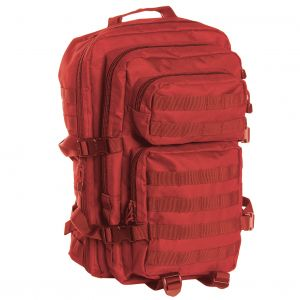 Mil-Tec US Assault Pack Large Einsatzrucksack mit MOLLE-Befestigungssystem Rot