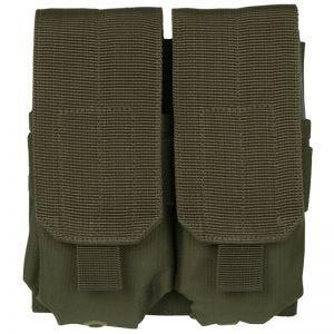 Mil-Tec M4/M16 Doppel-Magazintasche mit MOLLE-Befestigungssystem Oliv
