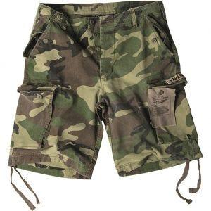 Mil-Tec Paratrooper Cargo-Shorts Prewashed Woodland