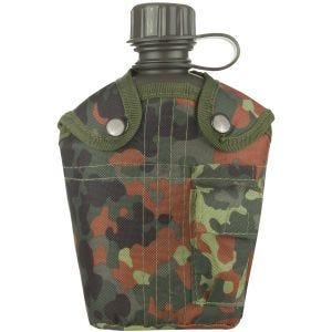 Mil-Tec Feldflasche mit Hülle 1 Liter Flecktarn