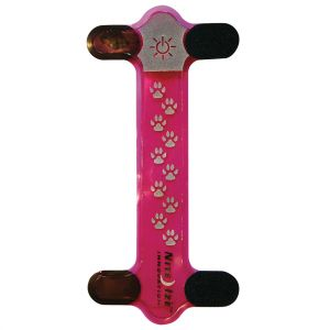 Nite Ize Nite Dawg Halsbandbezug mit rotem LED-Licht Pink