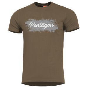 Pentagon Ageron T-Shirt mit Motiv im Grunge-Stil Terra Brown