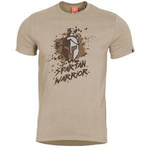 """Pentagon Ageron T-Shirt mit Aufschrift """"Spartan Warrior"""" Khaki"""