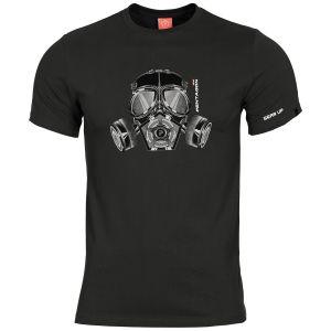 Pentagon Ageron Gas Mask T-Shirt Schwarz