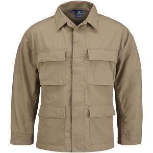 Propper Uniform BDU-Jacke aus Baumwoll-Polyester-Ripstop Khaki