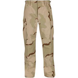 Propper BDU Hose mit Knopfverschluss aus Baumwoll-Ripstop Desert 3 Farben