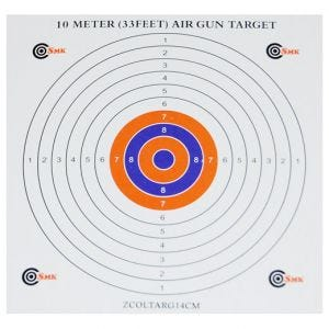 SMK 14 cm Papp-Zielscheiben mit farbiger Mitte (100 Stück)