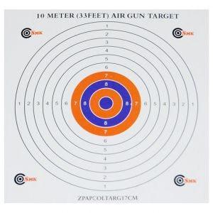 SMK 17 cm Papier-Zielscheiben mit farbiger Mitte (100 Stück)