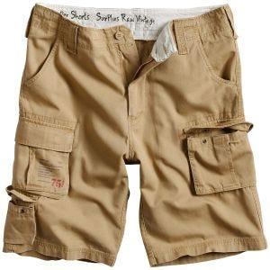 Surplus Trooper Shorts Beige verwaschen
