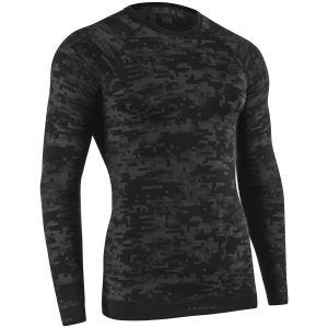 Tervel Optiline Digital Langarm-Shirt Schwarz/Grau