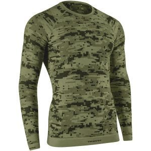 Tervel Optiline Digital Langarm-Shirt Military/Grau