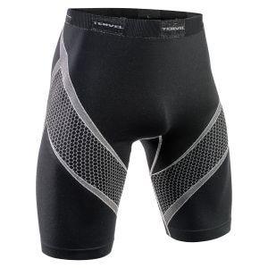 Tervel Optiline Sport-Shorts Schwarz / Hellgrau