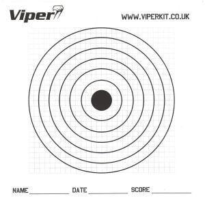 Viper Pro 17cm Papier-Zielscheiben (100 Stück)