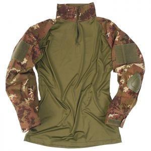 Mil-Tec Warrior Shirt mit Ellbogenschutz Vegetato Woodland