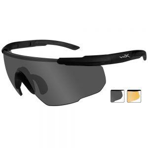 Wiley X Saber Advanced Schutzbrille - Gläser in Smoke Grey + Light Rust / Gestell in Mattschwarz