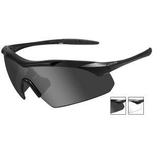Wiley X WX Vapor Schutzbrille - Gläser in Smoke Grey + Transparent / Gestell in Mattschwarz