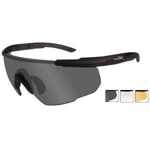 Wiley X Saber Advanced Schutzbrille - Gläser in Smoke Grey + Transparent + Light Rust / Gestell in Mattschwarz