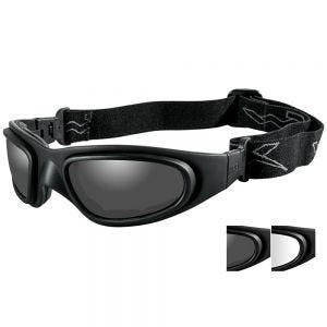 Wiley X SG-1 Schutzbrille - Gläser in Smoke Grey + Transparent / Gestell in Mattschwarz