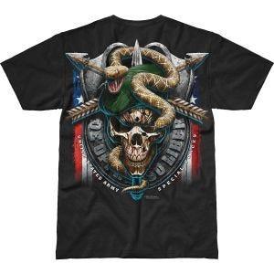 7.62 Design Army Special Forces Green Beret Battlespace T-Shirt Schwarz