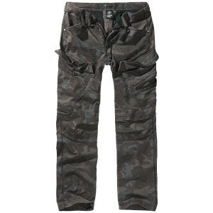 Brandit Adven Hose in Slim-Fit-Passform Dark Camo