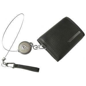 Civilian Rewind Duo Sicherheitsgeldbörse mit aufrollbarem Kabel Schwarz