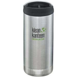 Klean Kanteen TKWide Insulated 355ml Trinkflasche mit Café Cap 2.0 Brushed Stainless