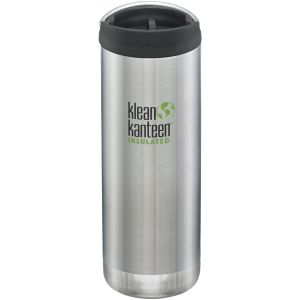 Klean Kanteen TKWide Insulated 473ml Trinkflasche mit Café Cap 2.0 Brushed Stainless