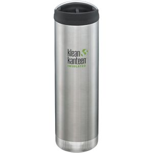 Klean Kanteen TKWide Insulated 591ml Trinkflasche mit Café Cap 2.0 Brushed Stainless