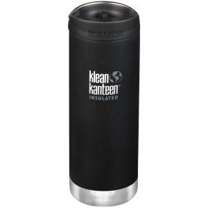 Klean Kanteen TKWide Insulated 473ml Trinkflasche mit Café Cap 2.0 Shale Black